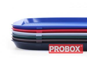 Taca z polipropylenu - FAST FOOD 350x450 czerwona