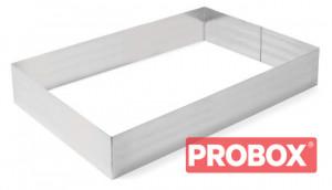 Rant piekarniczo-cukierniczy prostokątny 550x350x(H)80 mm