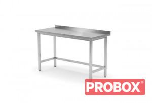 Stół roboczy przyścienny - skręcany z rantem, o wym. 800x700x850 mm