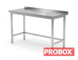 Stół przyścienny wzmocniony bez półki - spawany, o wym. 1000x600x850 mm