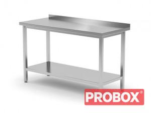 Stół przyścienny z półką - spawany, o wym. 800x600x850 mm
