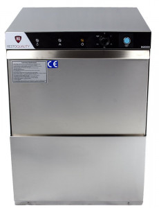 Zmywarka gastronomiczna uniwersalna | RQ500DP | pompa spustowa | 230V | kosz 50x50cm | 3 cykle mycia