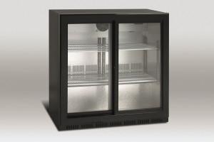 Barowa szafa chłodnicza, drzwi przesuwne | chłodziarka podblatowa | SC 209SL 207L