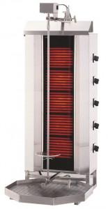 Gyros | opiekacz elektryczny do kebaba | 5 palników | wsad 80kg KLG 232