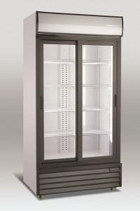 Szafa chłodnicza przeszklona SD801SL | 800l | drzwi przesuwne