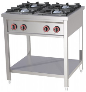 Kuchnia gastronomiczna gazowa wolnostojąca SPB - 70/80 G