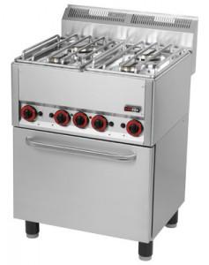 Kuchnia gazowa zelektr. piekarnikiem SPT 60 GL