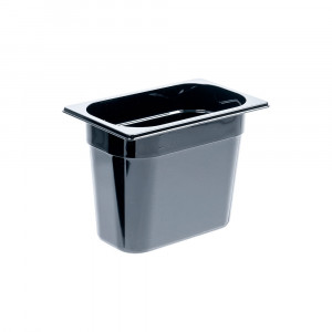 Pojemnik GN 1/4 200 czarny poliwęglan