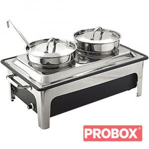 Podgrzewacz gastronomiczny elektryczny z kociołkami do zup 2x4 l