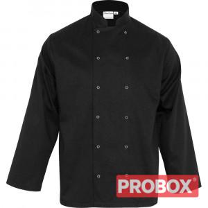 Bluza kucharska czarna CHEF XL unisex