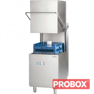 Zmywarka gastronomiczna kapturowa 500x500, 11.1 kW z dozownikiem płynu myjącego