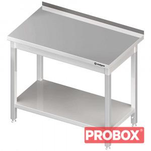 Stół gastronomiczny przyścienny z półką 400x600x850 mm skręcany