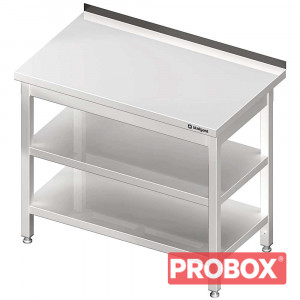 Stół przyścienny z 2-ma półkami 800x600x850 mm skręcany