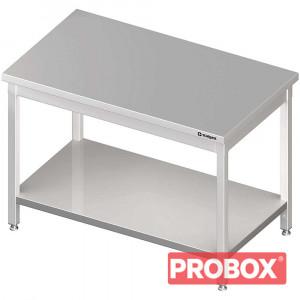 Stół centralny z półką 1400x700x850 mm skręcany