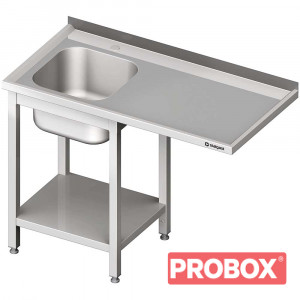 Stół ze zlewem 1-kom.(L) i miejscem na lodówkę lub zmywarkę 1200x600x900 mm skręcany