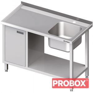 Stół ze zlew 1-kom.(P), z szafką i półką 1500x600x850 mm