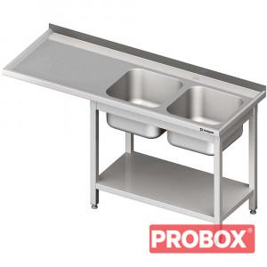 Stół ze zlewem 2-kom.(P) i miejscem na lodówkę lub zmywarkę 1700x600x900 mm
