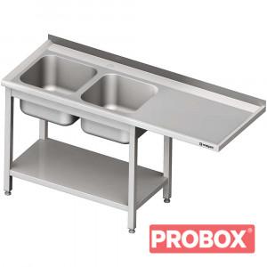 Stół ze zlewem 2-kom.(L) i miejscem na lodówkę lub zmywarkę 1700x600x900 mm