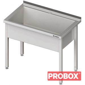 Stół z basenem 1-komorowym spawany 700x700x850 mm h=300 mm