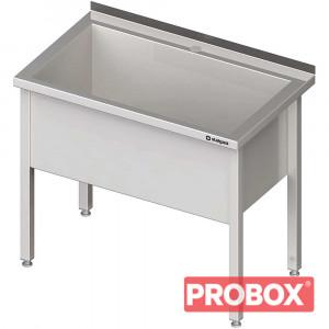 Stół z basenem 1-komorowym spawany 800x600x850 mm h=400 mm