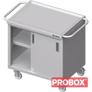 Wózek z szafką, drzwi suwane 1100x600x850 mm