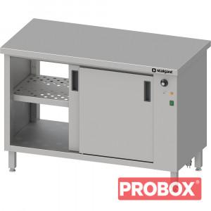 Stół przelotowy, z szafką grzewczą,drzwi suwane 1600x600x850 mm