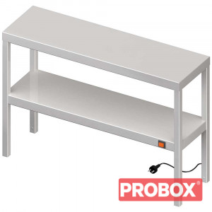 Nadstawka grzewcza na stół podwójna 1100x300x700 mm