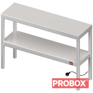 Nadstawka grzewcza na stół podwójna 1400x300x700 mm