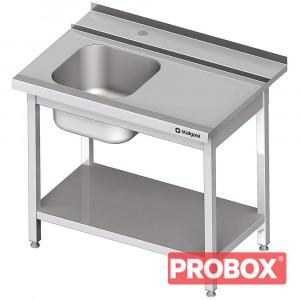 Stół załadowczy(P) 1-kom. z półką do zmywarki SILANOS 1100x755x880 mm skręcany