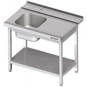 Stół załadowczy(P) 1-kom. z półką do zmywarki SILANOS 1100x755x880 mm spawany