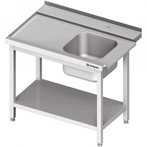 Stół załadowczy(L) 1-kom. z półką do zmywarki SILANOS 1100x755x880 mm spawany