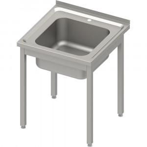 Stół ze zlewem 1-kom.,bez półki 600x600x850 mm spawany, blat tłoczony