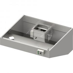 Okap przyścienny skośny ECONOMIC z łap. B,went. E3 i ośw. 1000x900x550 mm (1 segment)