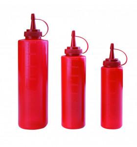 Dyspenser do sosów - czerwony 0,4 l